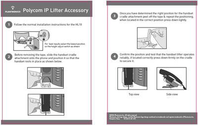 Polycom Telephones Require Handset Cradle Attachment (Plantronics #76141-01)