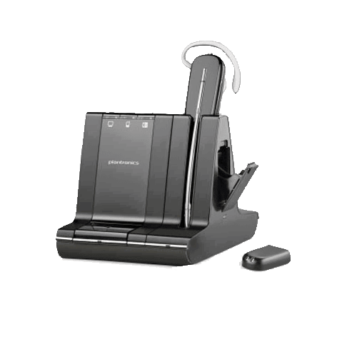 Plantronics Wireless Headsets with Swappable Battery for Extended Talk Time