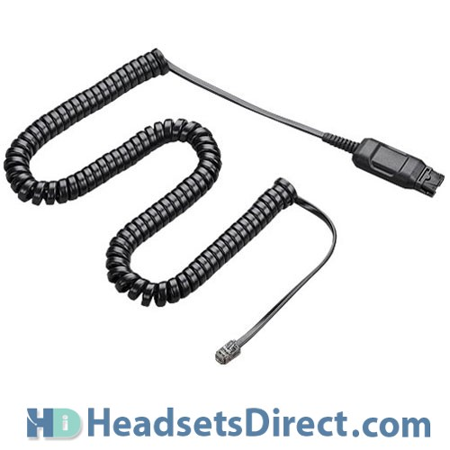 plantronics hic adapter cable cord 49323 44 headsets direct