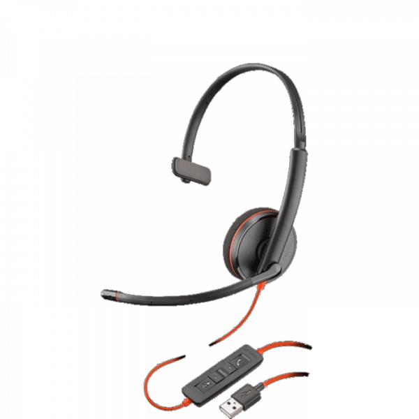 Blackwire C3210 USB Corded Headset with Inline Controls