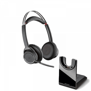 Plantronics Voyager Focus UC Wireless Headset Headset and Base