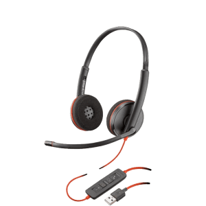 Picture of the Plantronics Blackwire C3220 USB headset