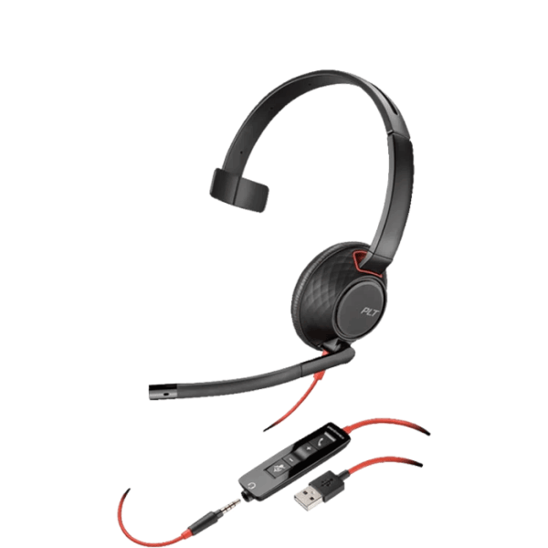Picture of the Plantronics Blackwire 5210, C5210 USB-C Headset
