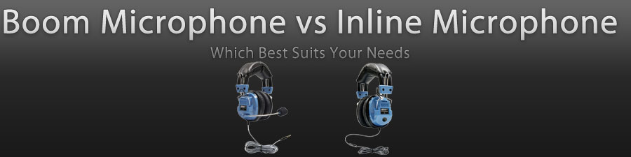 Boom Vs Inline Microphones Headsets Direct Inc