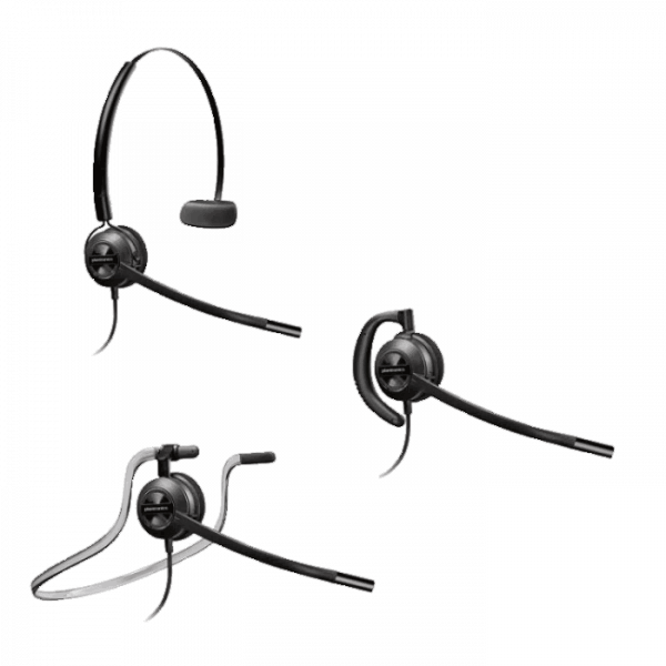 EncorePro HW540 Corded Headset with Three Wearing Options