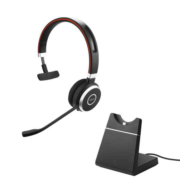 Jabra Evolve 65 Mono Computer Wireless Headset and Base