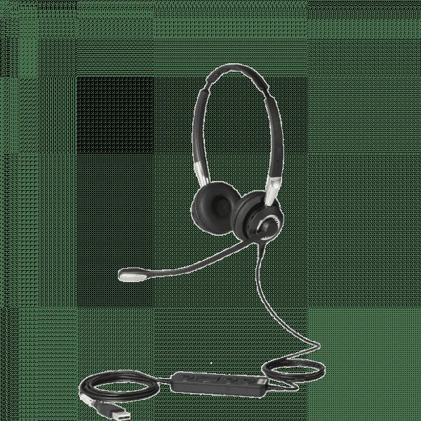Jabra BIZ 2400 Stereo USB Corded Headset with Inline Controls