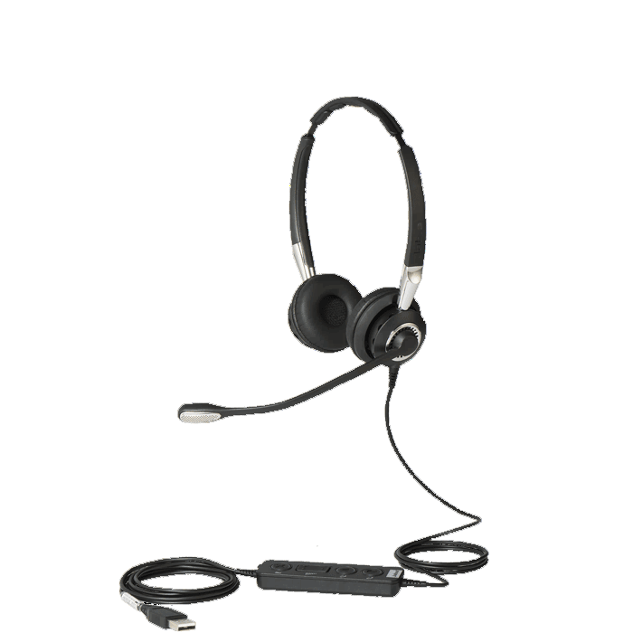 Jabra BIZ 2400 Stereo USB Corded Headset with Inline Controls