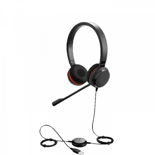 Jabra Evolve 30 II UC Stereo USB Corded Headset with Inline Controls