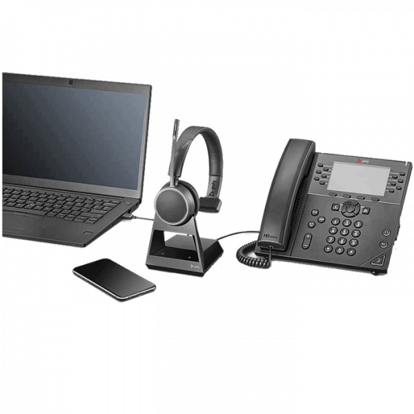 Poly Voyager 4210 CD Office Deskphone, PC and mobile headset