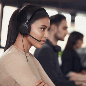 Jabra Evolve2 40 Teams Open Office Collaboration