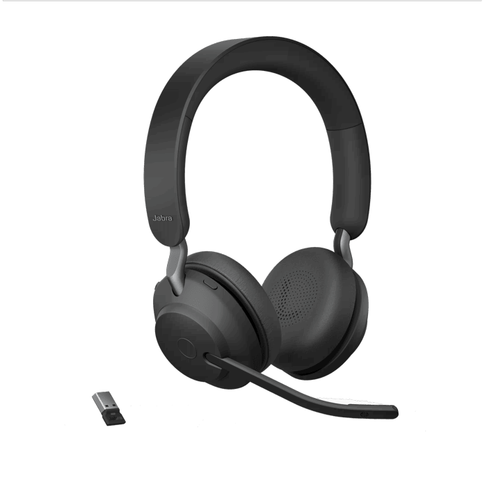 Jabra Evolve2 65 Uc Stereo Wireless Headset Headsets Direct Inc