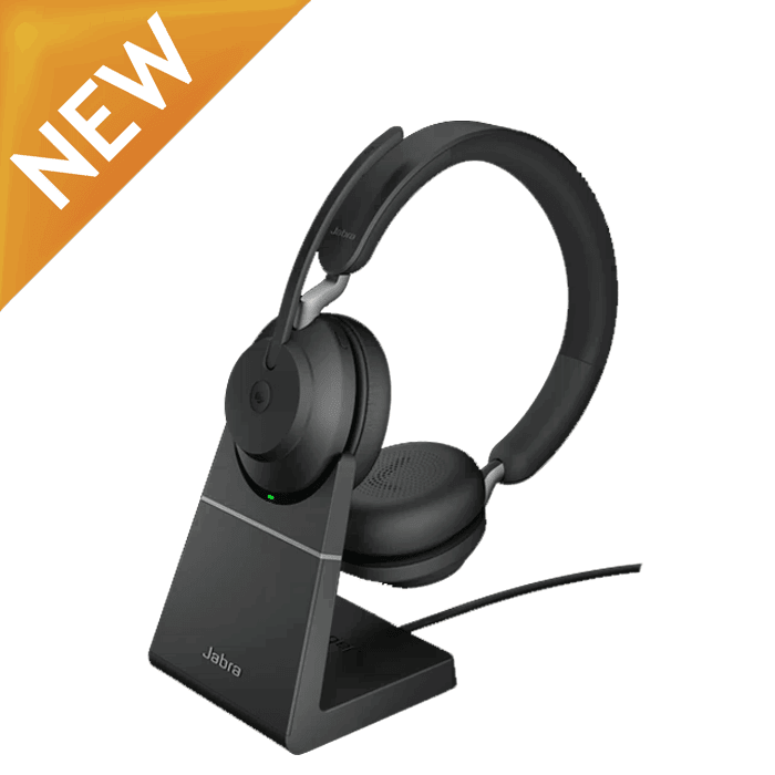 Jabra Evolve2 65 Stand Stereo Computer Wireless Headset for Microsoft Teams