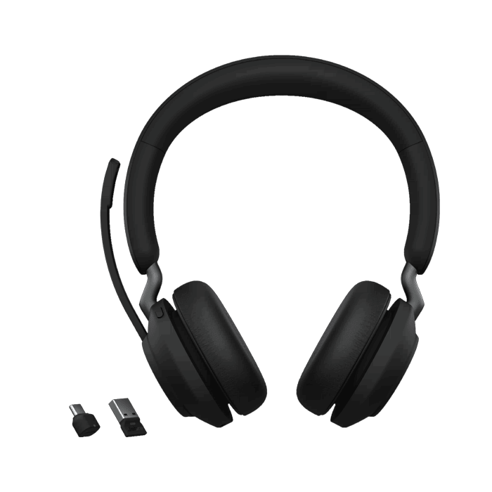 Jabra Evolve2 65 Uc Stereo Wireless Headset Headsets Direct Inc