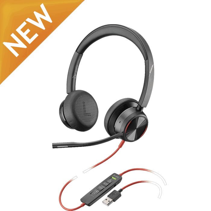 Poly Blackwire BW8225 USB Headset with Microsoft Teams Button