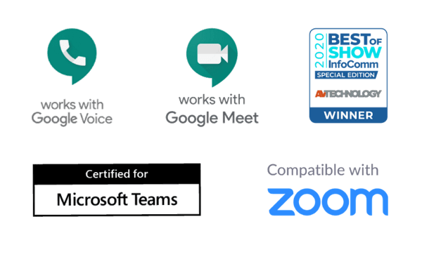 Compatible with Microsoft Teams, Google Meet, Google Voice and Zoom