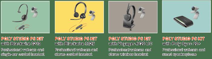 Poly P5 Webcam & Headset Kits