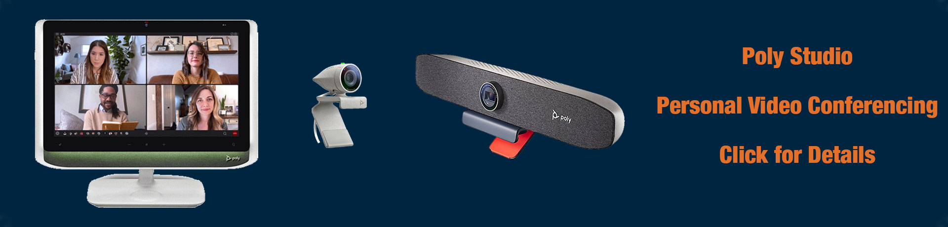 Poly P-Series Video Conferencing Devices