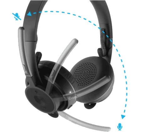 Logitech Zone Wireless Headset Mute Function