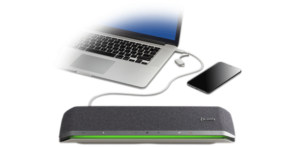 Poly Sync 60 Speakerphone w/ cell phone & PC